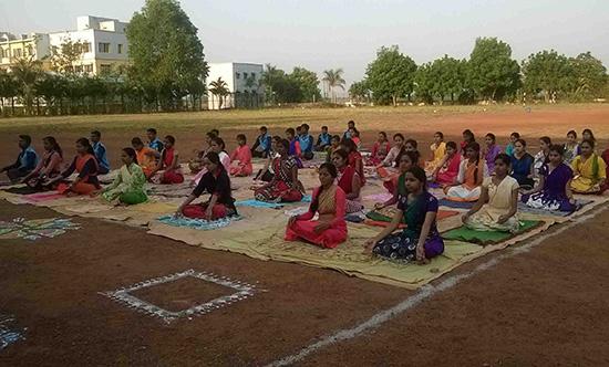 07 Campers involved in meditation
